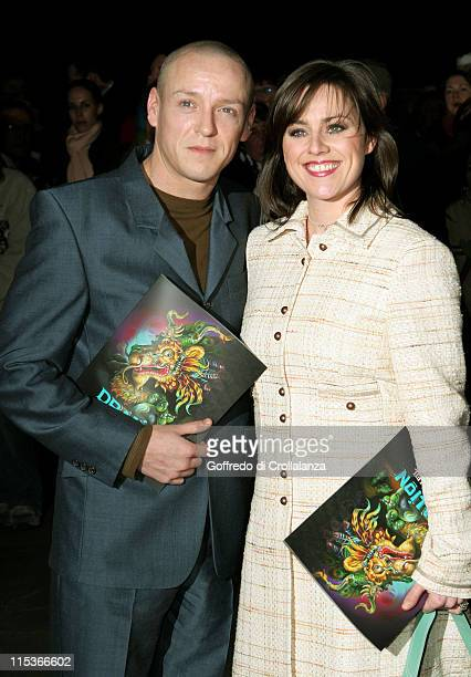 Jill Halfpenny and guest during Cirque du Soleil's 20th Anniversary of Dralion at Royal Albert Hall in London Great Britain