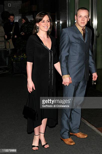 Jill Halfpenny and guest during Laurence Olivier Awards Arrivals at London Hilton in London Great Britain