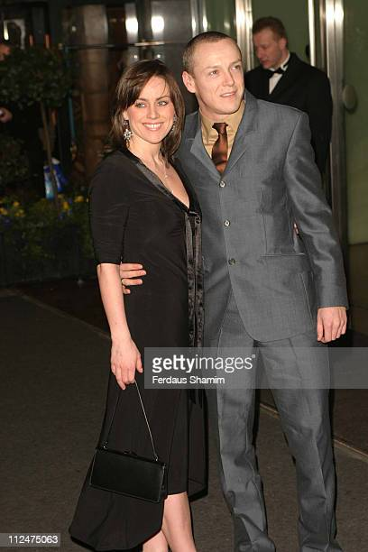 Jill Halfpenny and guest during The Olivier Awards 2005 at London Hilton in London Great Britain