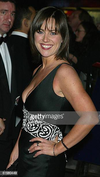 Jill Halfpenny arrives at the 10th Anniversary National Television Awards at the Royal Albert Hall on October 26 2004 in London The starstudded...
