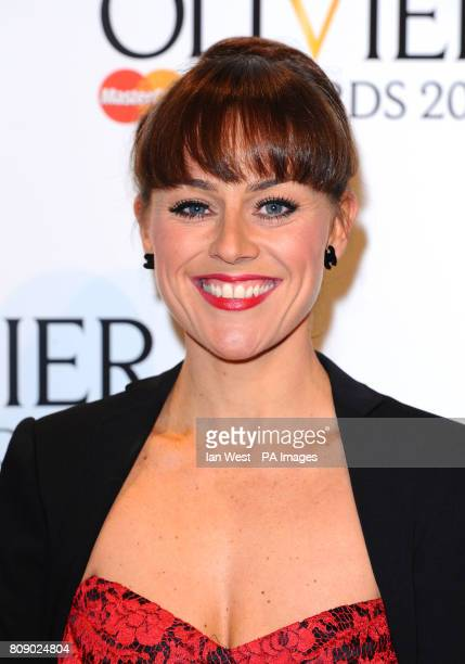 Jill Halfpenny arrives at the 2011 Laurence Olivier Awards at the Theatre Royal in London
