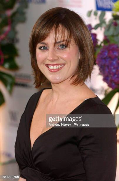Jill Halfpenny arrives at the annual British Book Awards recognising bestsellers rather than critics' favourites from the Grosvenor House Hotel...