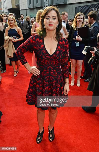 Jill Halfpenny arrives at The Olivier Awards with Mastercard at The Royal Opera House on April 3 2016 in London England