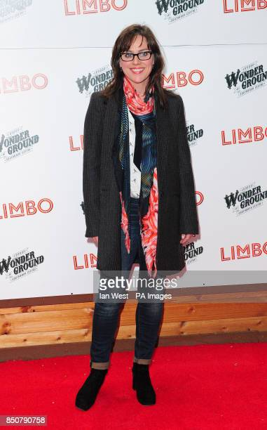 Jill Halfpenny arrives at the opening night of LIMBO at the London Wonderground Festival held at the South Bank in London