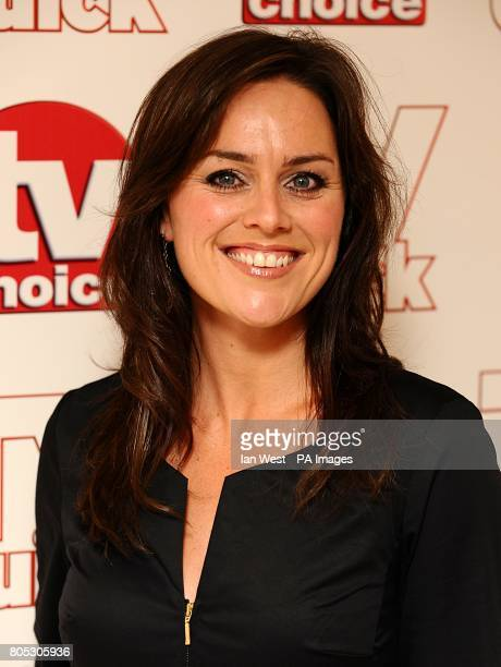 Jill Halfpenny arriving for the 2009 TV Quick and TV Choice Awards at the Dorchester Hotel Park Lane London
