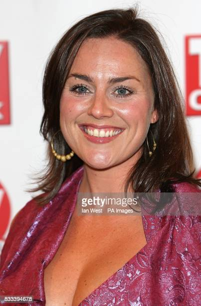 Jill Halfpenny arriving for the TV Quick and TV Choice awards at The Dorchester London