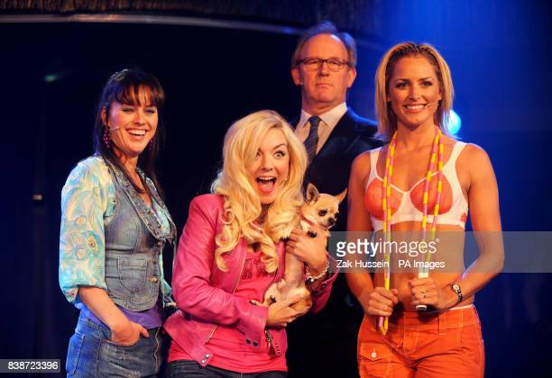 Jill Halfpenny as Paulette Sheridan Smith as Elle Woods Peter Davison as Professor Callahan and Aoife Mulholland as Brooke Wyndham during Legally...