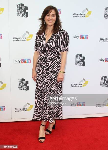 Jill Halfpenny attends a South Bank Sky Arts Awards at the Savoy strand in London