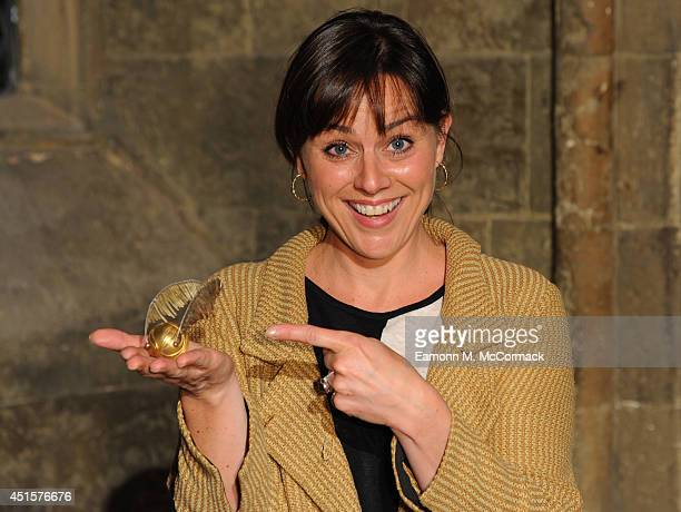 Jill Halfpenny attends a VIP screening of Harry Potter And The Philosopher's Stone at Leavesden Studios on July 1 2014 in Watford England