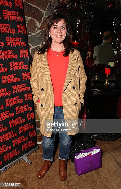 Jill Halfpenny attends the after party for the press night of Ghost Stories at on February 27 2014 in London England