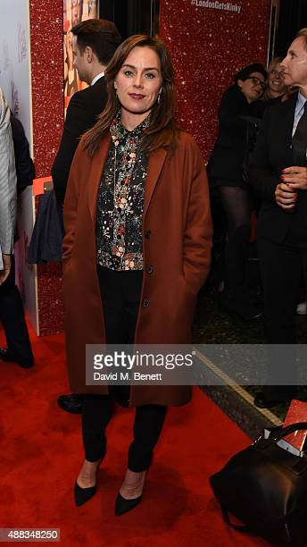 Jill Halfpenny attends the Kinky Boots opening night at Adelphi Theatre on September 15 2015 in London England