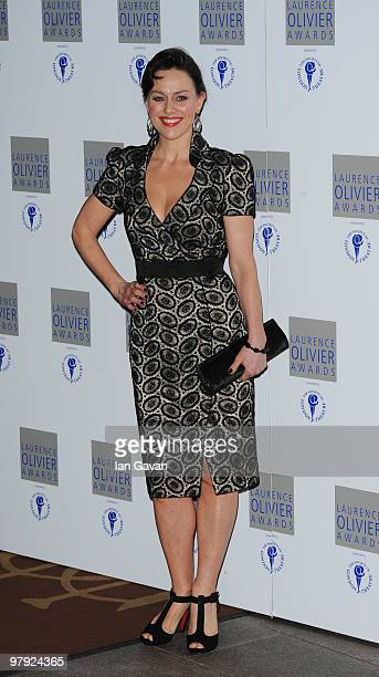 Jill Halfpenny attends the Laurence Olivier Awards at The Grosvenor House Hotel on March 21 2010 in London England