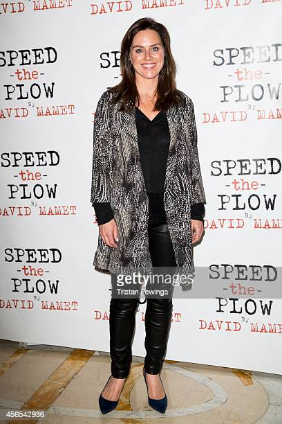 Jill Halfpenny attends the press night after party of Speed The Plow at Playhouse Theatre on October 2 2014 in London England