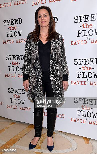 Jill Halfpenny attends the press night afterparty of Speed The Plow at National Liberal Club on October 2 2014 in London England