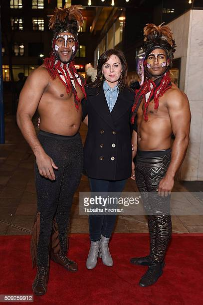 Jill Halfpenny attends the Press night for Cirque Berserk at The Peacock Theatre on February 9 2016 in London England