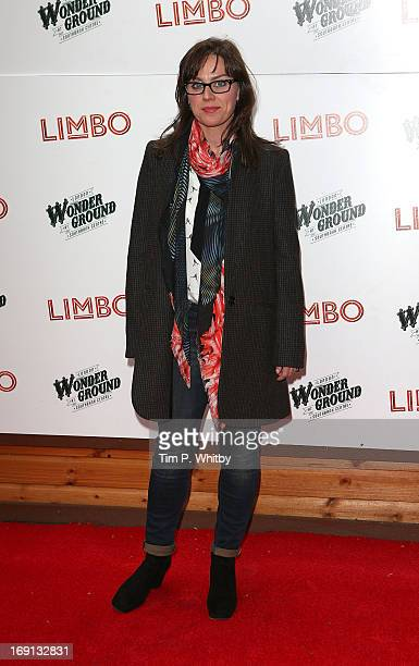Jill Halfpenny attends the press night for 'Limbo' at London Wonderground on May 20 2013 in London England