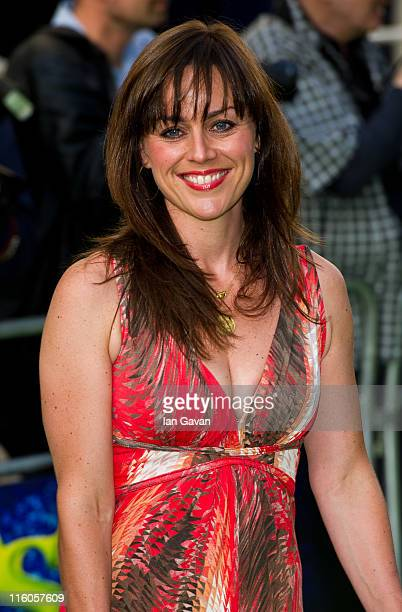Jill Halfpenny attends the press night for Shrek The Musical at the Theatre Royal on June 14 2011 in London England
