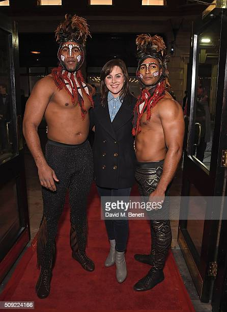 Jill Halfpenny attends the Press Night performance of Cirque Berserk at The Peacock Theatre on February 9 2016 in London England