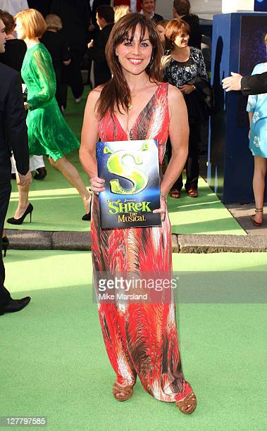 Jill Halfpenny attends the Shrek press night at Theatre Royal on June 14 2011 in London England