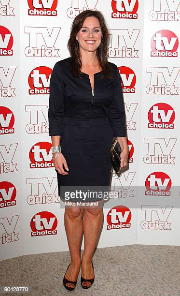 Jill Halfpenny attends the TV Quick Tv Choice Awards at The Dorchester on September 7 2009 in London England