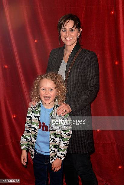 Jill Halfpenny attends the World Premiere of Pudsey The Dog The Movie at Vue West End on July 13 2014 in London England