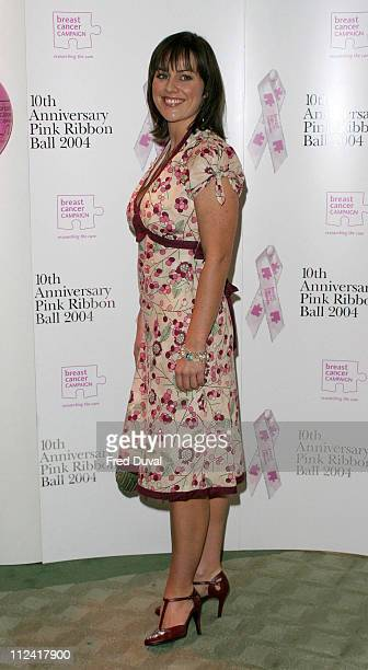 Jill Halfpenny during 10th Anniversary Pink Ribbon Ball in Aid of the Breast Cancer Campaign at Dorchester Hotel in London in London United Kingdom