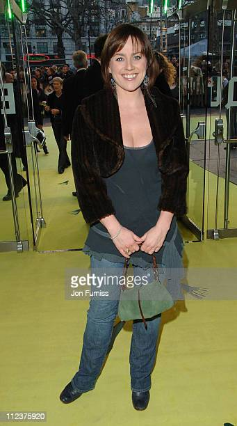 Jill Halfpenny during Alien Autopsy London Premiere Inside Arrivals at Leicester Square in London Great Britain