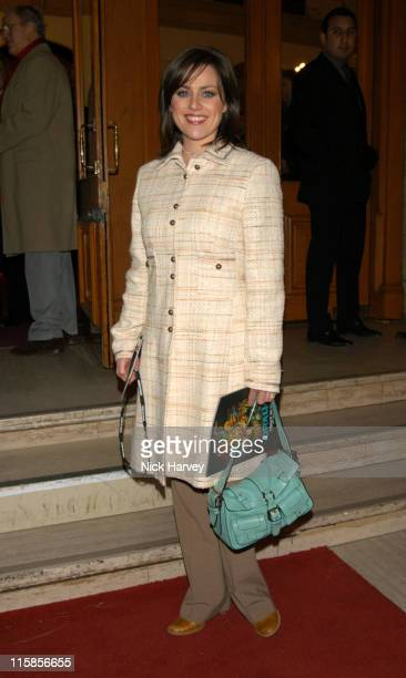 Jill Halfpenny during Cirque du Soleil's 20th Anniversary of Dralion Arrivals at The Royal Albert Hall in London Great Britain