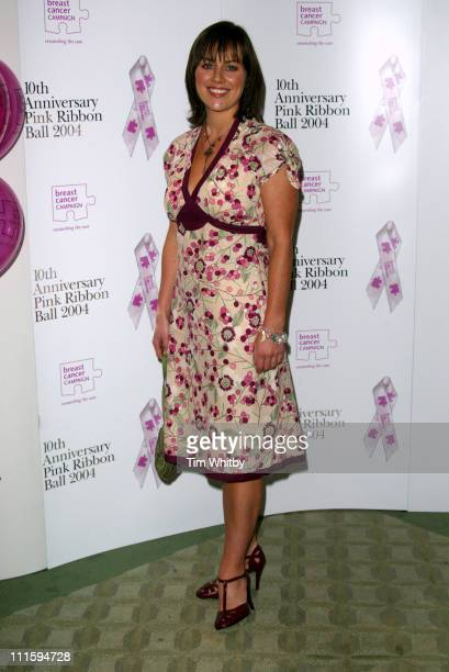 Jill Halfpenny during The 10th Anniversary Pink Ribbon Ball at Dorchester Hotel in London Great Britain