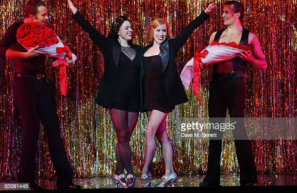 "Jill Halfpenny - winner of Strictly Come Dancing - performs with Anna-Jane Casey during her West End debut as Roxie Hart in ""Chicago - The Musical""..."