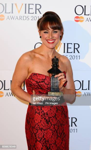 Jill Halfpenny wins Best Performance in a Supporting Role in a Musical for Legally Blonde at the Theatre Royal in London