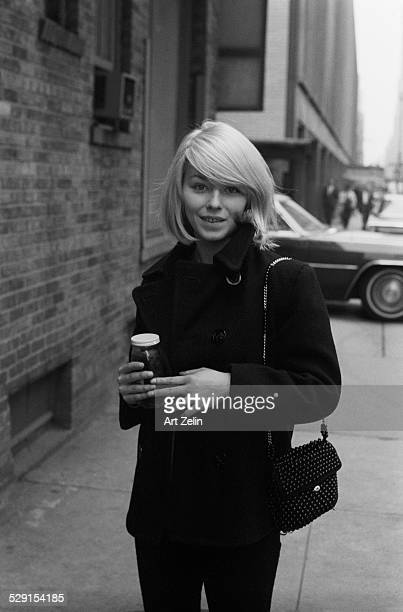 Jill Haworth exterior photo circa 1970 New York