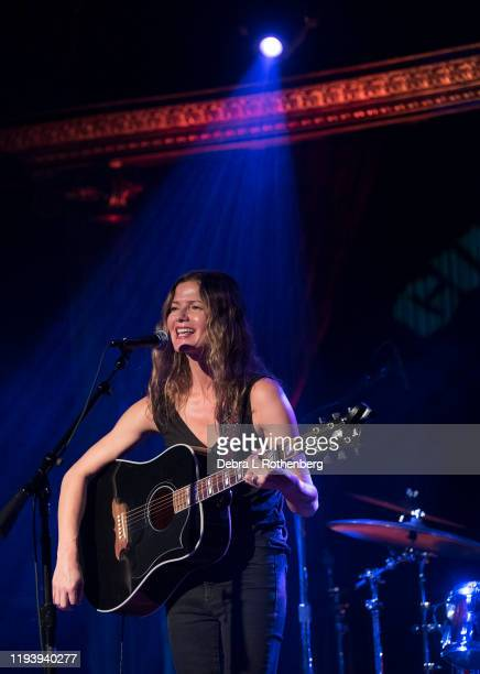 Jill Hennessey performs during the 2020 Light of Day Concert to benefit Parkinson's Disease at The Cutting Room on January 15 2020 in New York City