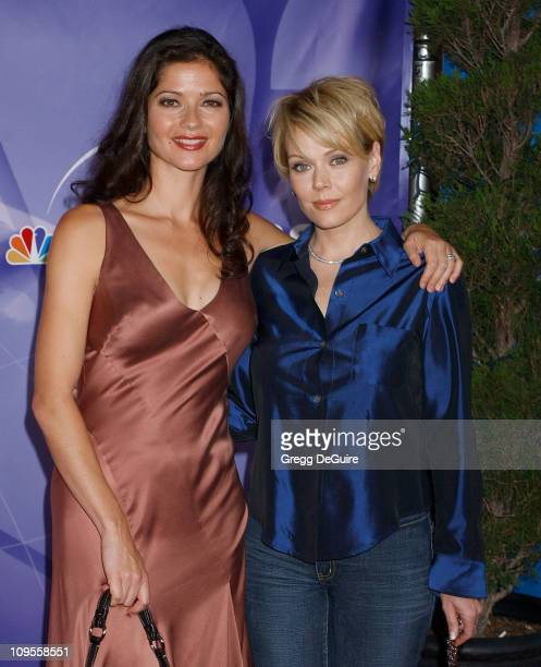 Jill Hennessy and Gail O'Grady during 2004 NBC All Star Party Arrivals at Universal Studios in Universal City California United States