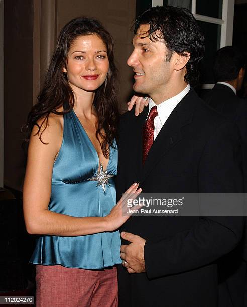 Jill Hennessy and husband Paolo Mastropietro during The Friends of The Los Angeles Free Clinic's 28th Annual Dinner Gala at Regent Beverly Wilshire...
