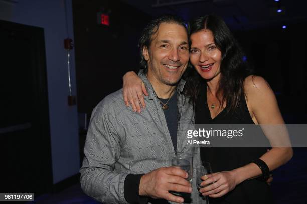 Jill Hennessy and Pablo Mastropietro attend the venue preview party at The Loft at City Winery on May 21 2018 in New York City