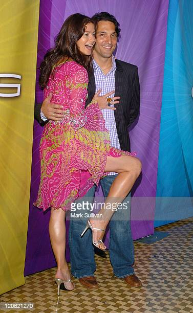 Jill Hennessy and Paolo Mastropietro during NBC Cocktail Party for Las Vegas at TCA Arrivals at Beverly Hilton Hotel in Beverly Hills California...