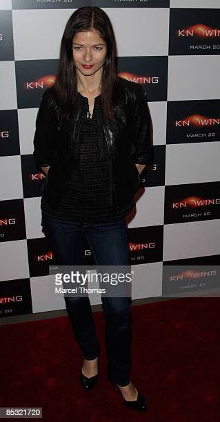 Jill Hennessy attends a screening of Knowing at the AMC Loews Lincoln cinema on March 9 2009 in New York City