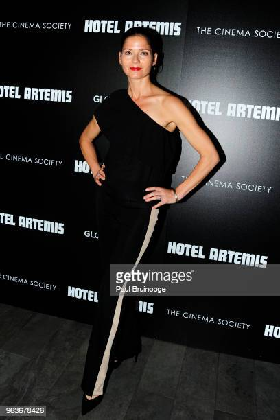 Jill Hennessy attends Global Road Entertainment With The Cinema Society Host A Screening Of Hotel Artemis at Laduree Soho on May 29 2018 in New York...