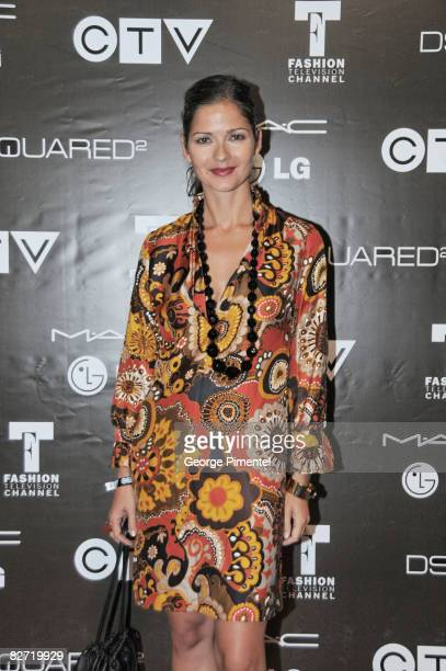 Jill Hennessy attends the MAC GOLD FEVER AFTER PARTY at the Chum/City TV Building on September 7 2008 in Toronto Canada