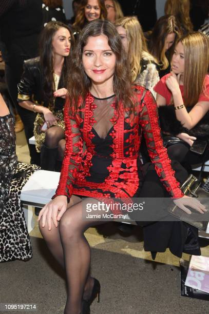 Jill Hennessy attends the Nicole Miller front row during New York Fashion Week The Shows at Gallery II at Spring Studios on February 7 2019 in New...