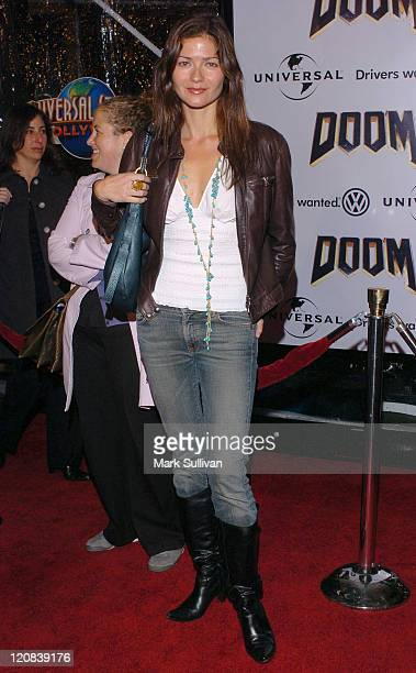 Jill Hennessy during Doom Los Angeles Premiere Arrivals at Universal City Cinemas in Universal City California United States