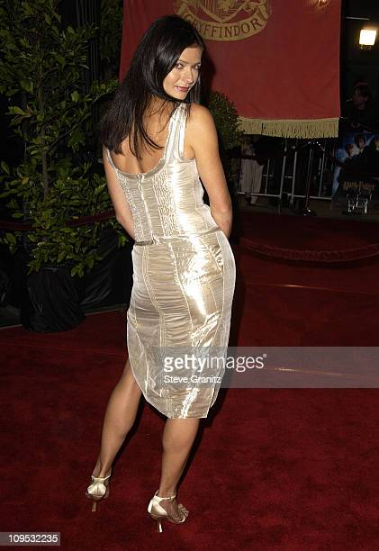 Jill Hennessy during Harry Potter and the Chamber of Secrets Premiere Los Angeles Arrivals at Mann Village Theatre in Westwood California United...