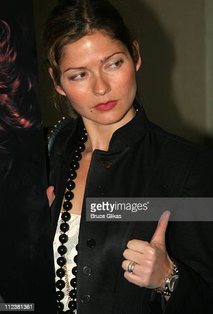Jill Hennessy during Sandra Bernhard Everything Bad and Beautiful New York City Opening Arrivals at The Daryl Roth Theater in New York City New York...