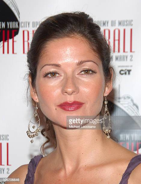 Jill Hennessy during The Britannia Ball Benefiting NYC Opera and Brooklyn Academy of Music at Queen Mary 2 Docked at Brooklyn Cruise Terminal in...