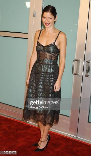 Jill Hennessy during 'The Lord Of The Rings The Two Towers' Los Angeles Premiere Arrivals at Cinerama Dome Theatre in Hollywood California United...