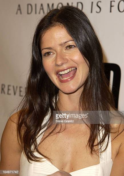 Jill Hennessy during Women's Wear Daily The Ultimate Fashion Authority Hosted White Hot Diamonds The Exclusive PreOscar Fashion Event Where...