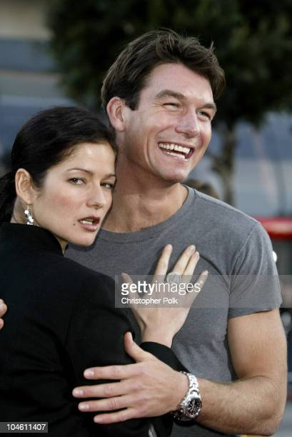 Jill Hennessy Jerry O'Connell during Kangaroo Jack Premiere at Grauman's Chinese Theatre in Hollywood CA United States