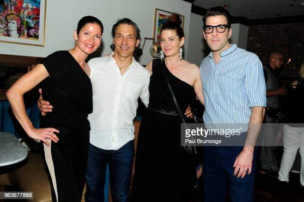 Jill Hennessy Paolo Mastropietro Debra Messing and Zachary Quinto attend Global Road Entertainment With The Cinema Society Host The After Party For...