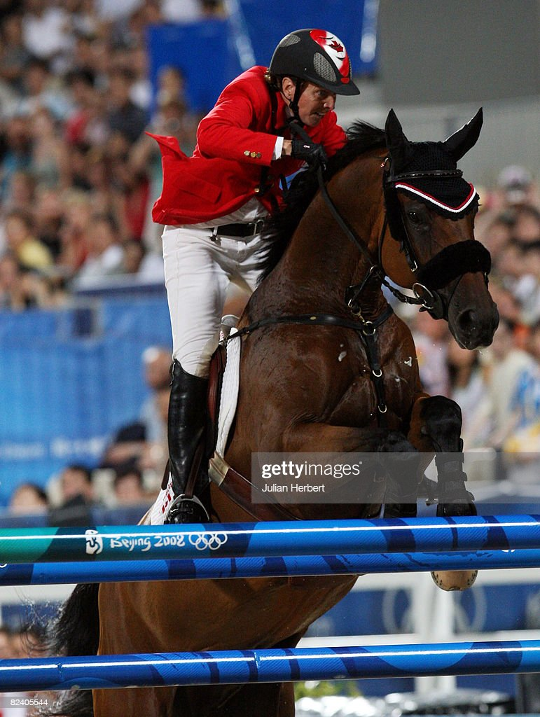 Jill Henselwood of Canada and Special Ed jump the last fence in the jump off against the United States in the Team Jumping Competition held at the Hong Kong Olympic Equestrian Venue in Sha Tin during day 10 of the Beijing 2008 Olympic Games on August 18, 2008 in Hong Kong, China.